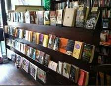 Book shelf filled with best selling books